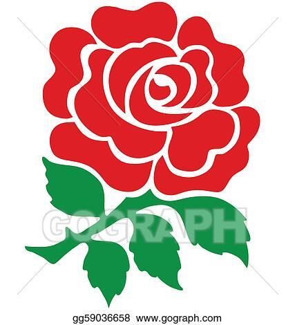 vector stock red rose clipart illustration gg59036658 gograph rh gograph com vector rose gold vector rose border