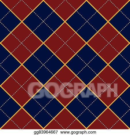 Vector Stock - Red royal blue diamond background  Clipart
