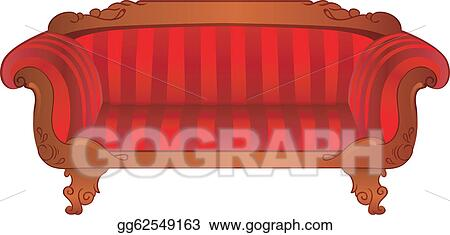 Vector Art Red Sofa Isolated On White Eps Clipart Gg62549163