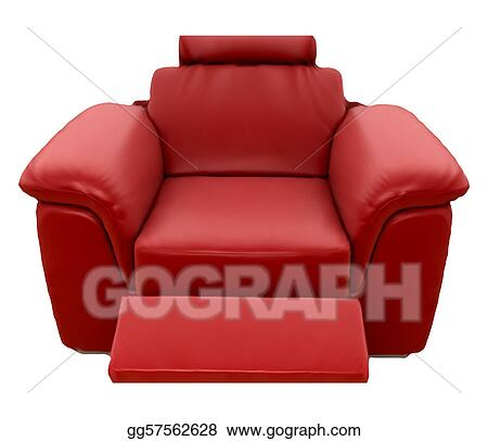 Vector Illustration Red Sofa Vector Eps Clipart Gg57562628 Gograph