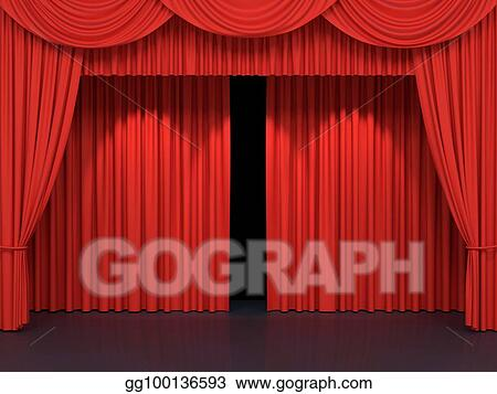 Hands Opening Velvet Curtains transparent PNG - StickPNG