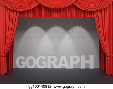 CURTAIN BACKGROUND / CLIP ART | Stage curtains