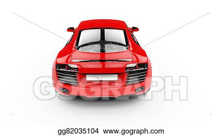 Car Back Top View >> Stock Illustration Red Supercar Back Top View Clipart
