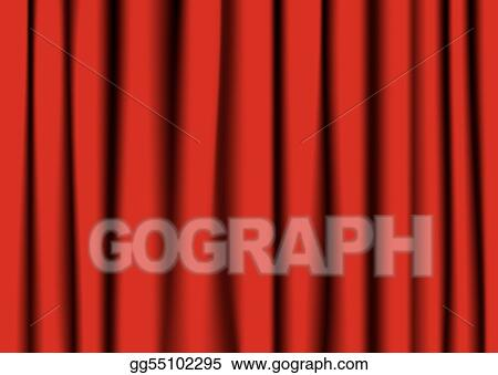 vector clipart red theater curtain vector illustration gg55102295