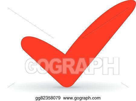Vector Stock Red Tick Icon Stock Clip Art Gg82358079 Gograph
