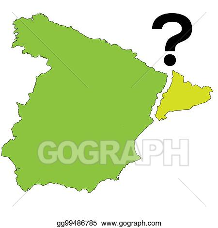 Eps Vector Referendum Spain Catalonia Vector Illustration