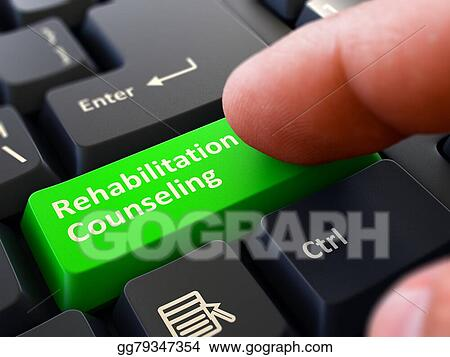 Stock Illustrations Rehabilitation Counseling Concept Person