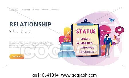 Vector Clipart Relationship Status Concept Landing Page Vector Illustration Gg116541314 Gograph