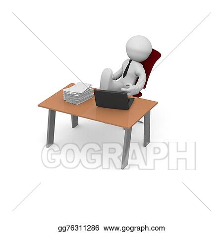 stock illustration relax at work clip art gg76311286 gograph