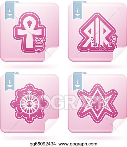 Clip Art Vector - Religion, faith and believes of the world