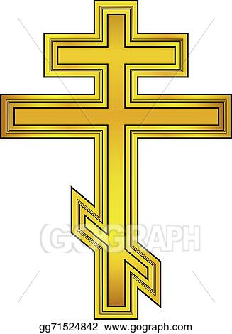 vector art religious orthodox gold cross icon eps clipart rh gograph com iron cross vector art iron cross vector art