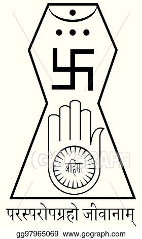 Vector Illustration Religious Sign Jainism This Is The Official