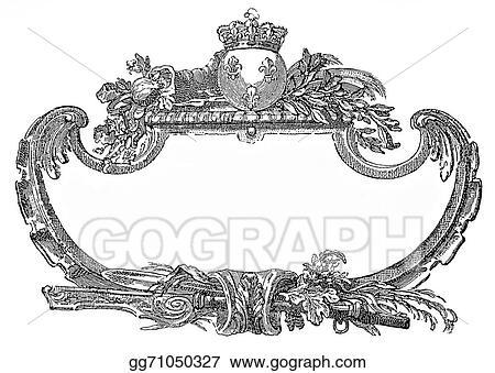 Pictures Renaissance Ornamental Frame With Fleur De Lis And Crown