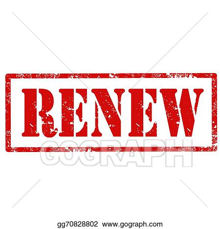 Vector Art Renew Stamp Eps Clipart Gg70828802 Gograph