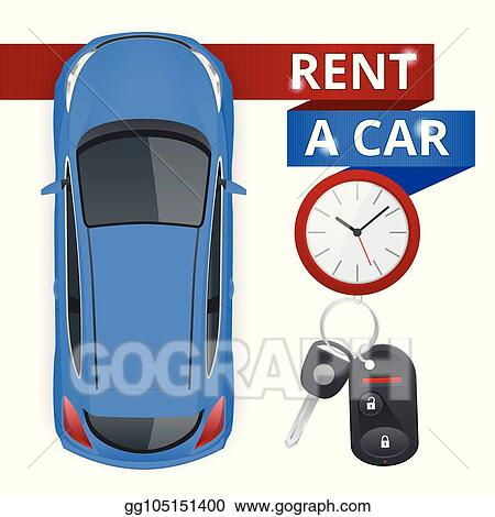 Vector Illustration Renting A New Or Used Car Car Rental Booking Reservation Banner Vector Illustration Background Stock Clip Art Gg105151400 Gograph