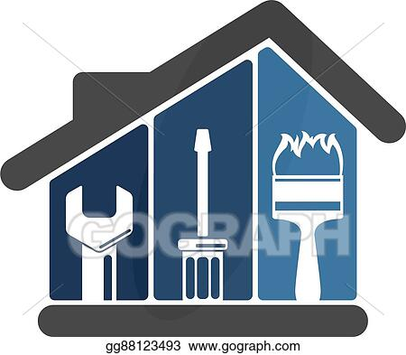 Vector Art Repairs In The House Eps Clipart Gg88123493 Gograph