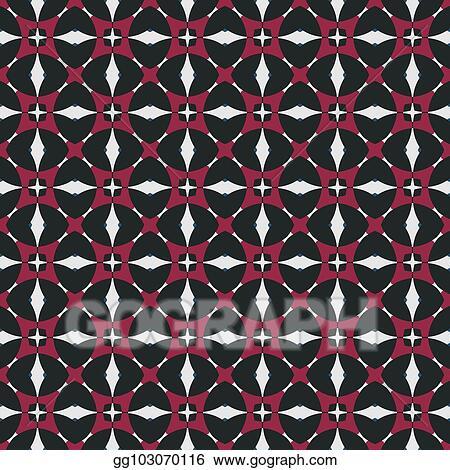 Stock Illustration Repeatable Retro Geometric Pattern Fabric