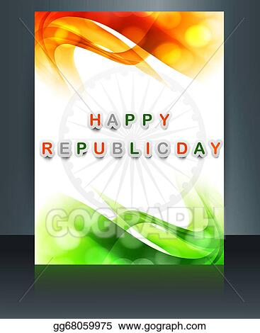 Drawing - Republic day tricolor brochure template for wave indian ...