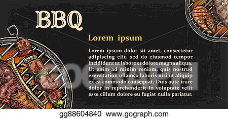 vector illustration restaurant menu template for barbecue grill