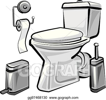 Eps Illustration Restroom Wc With Toilet Vector Clipart Gg97468130 Gograph