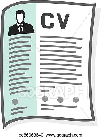 Vector Art Resume And Cv Icon Clipart Drawing Gg86063640 Gograph