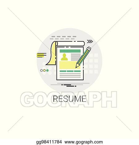 Vector Stock Resume Cv Form Job Vacancy Recruitment Application