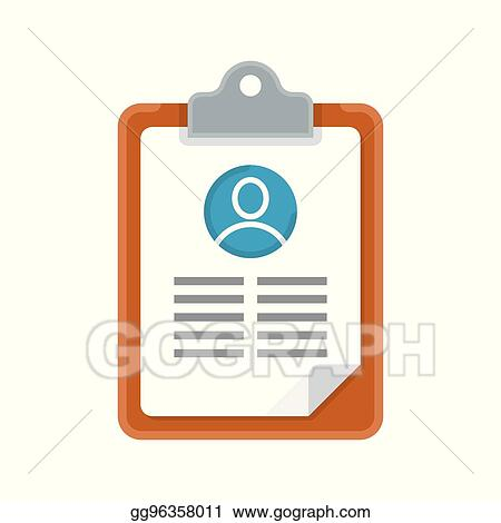 Vector Art - Resume cv icon. Clipart Drawing gg96358011 - GoGraph