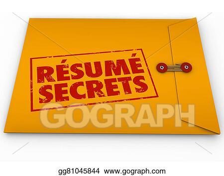 Resume Secrets Yellow Envelope Help Guidance Tips Advice Job Interview