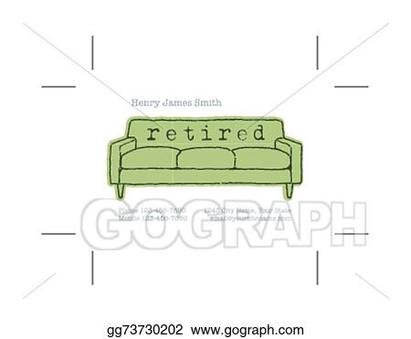 vector art retired business card clipart drawing gg73730202 gograph rh gograph com Blank Business Cards Business Card Design