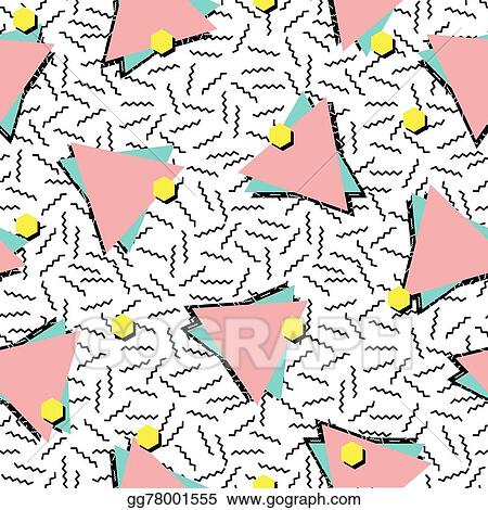 Vector Stock - Retro 80s style seamless pattern background