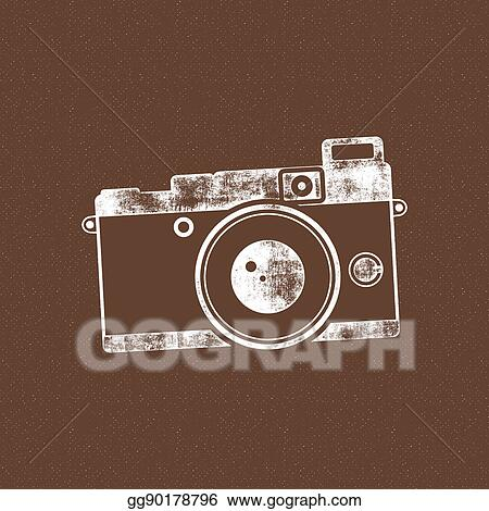 stock illustration retro camera icon old poster template