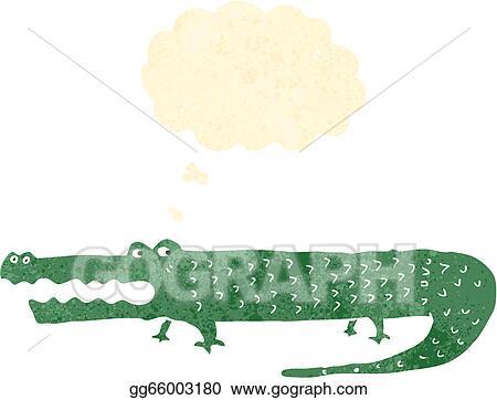 vector art retro cartoon alligator clipart drawing gg66003180