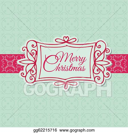 Vector Art Retro Christmas Card For Scrapbook Design