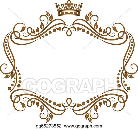 vector art retro frame with royal crown and flowers clipart rh gograph com royal clipper tall ship monaco royal clipper trips