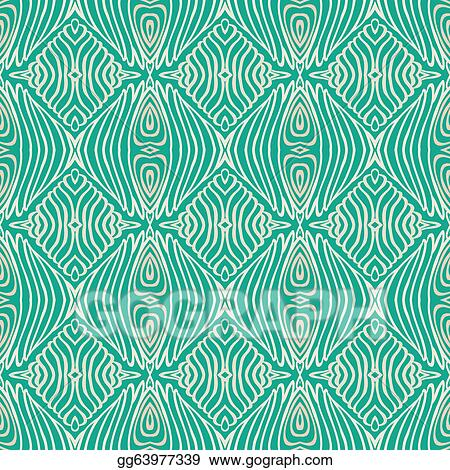 Vector Stock Retro Grunge Pattern Fifties Textile Design