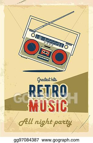 vector stock retro party poster design music event at night club