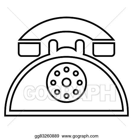 vector art retro phone icon eps clipart gg83260889 gograph Retro Desk Phones retro phone icon