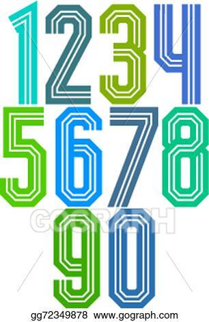 vector stock retro stripe geometric numbers stock clip art rh gograph com best clipart subscription