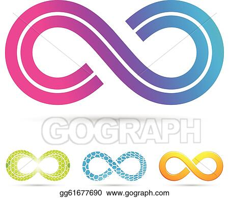 Clip Art Vector Retro Style Infinity Symbol Stock Eps Gg61677690