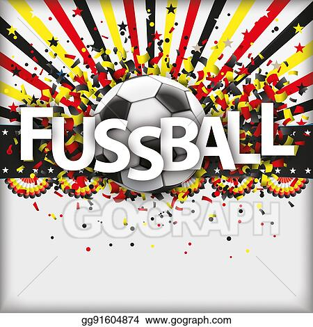 Drawings Retro Sun Football Fussball Germany Stock