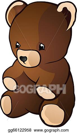 Vector Illustration Retro Teddy Bear Toy Cartoon Charac Eps Clipart Gg66122958 Gograph