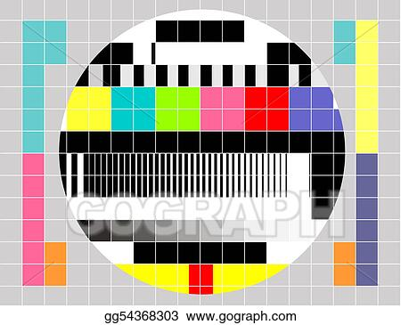 Stock Illustration Retro Tv Multicolor Signal Test Pattern