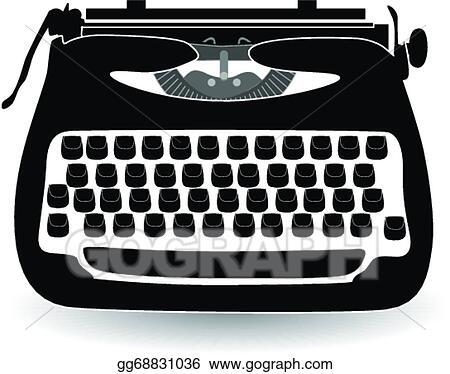 vector stock retro typewriter clipart illustration gg68831036 rh gograph com typewriter font clipart typewriter image clipart