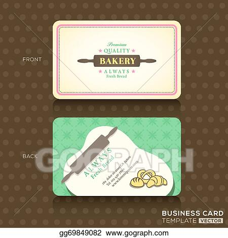 Clip Art Vector Retro Vintage Business Card For Bakery House