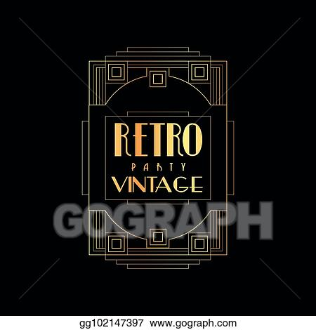 eps illustration retro vintage party vector illustration gold and