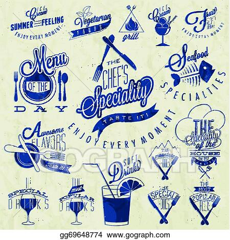 Eps Vector Retro Vintage Style Restaurant Menu Stock Clipart