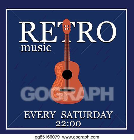 vector stock retromusic vector poster template can use for