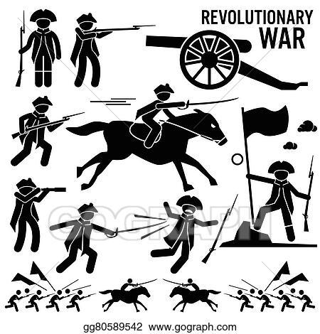 vector stock revolutionary war cliparts clipart illustration rh gograph com Revolutionary War Muskets Revolutionary War Ships