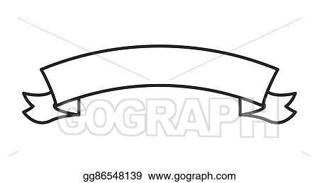 Vector Clipart - Ribbon banner icon. Vector Illustration ...