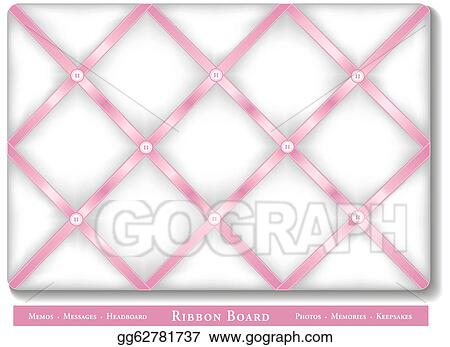 Vector Clipart Ribbon Bulletin Board Vector Illustration